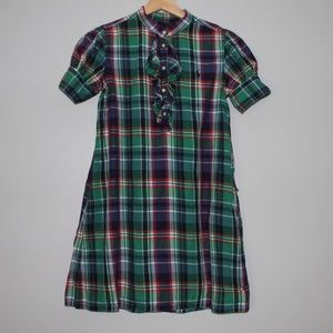 Ralph Lauren Girls 12 Plaid Dress